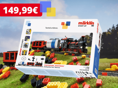 Starter Building Block Train Märklin Start up